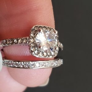 2 pices engagement ring set new